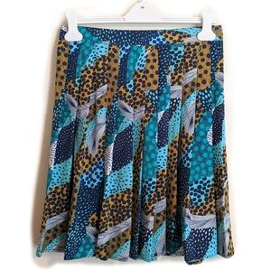 H&M Feathers & Polka Dots Pleated Skirt Size 10